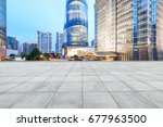 city square and modern... | Shutterstock . vector #677963500