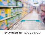 shopping cart view in... | Shutterstock . vector #677964730