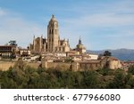 cathedral de segovia  spain | Shutterstock . vector #677966080