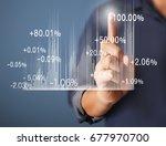 investment concept  businessman ... | Shutterstock . vector #677970700