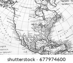 old map north american continent | Shutterstock . vector #677974600