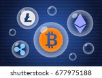 digital cryptocurrency bubble   ... | Shutterstock . vector #677975188