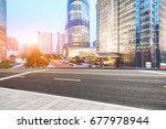 asphalt road in lujiazui... | Shutterstock . vector #677978944