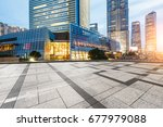 city square and modern... | Shutterstock . vector #677979088