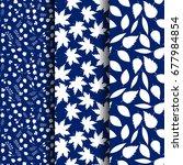 set of  seamless autumn pattern ...   Shutterstock .eps vector #677984854