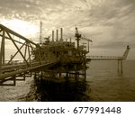 an offshore oil and gas... | Shutterstock . vector #677991448