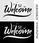 welcome   grunge brush ... | Shutterstock .eps vector #678002830