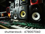 high quality loudspeakers in dj ... | Shutterstock . vector #678007060