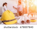 engineer asia man and woman...   Shutterstock . vector #678007840