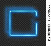 neon rectangle lamp wall sign... | Shutterstock .eps vector #678008920