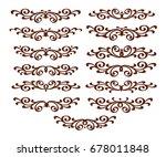 design elements.vector...   Shutterstock .eps vector #678011848