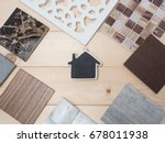 samples of material  wood  ... | Shutterstock . vector #678011938