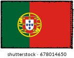 portugal flag grunge background.... | Shutterstock . vector #678014650