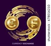 money currency exchange vector. ... | Shutterstock .eps vector #678016210
