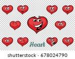 heart valentine emotions... | Shutterstock .eps vector #678024790
