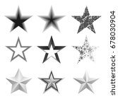 different star icons | Shutterstock .eps vector #678030904