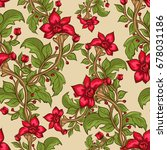 floral seamless pattern with ...   Shutterstock .eps vector #678031186