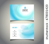 business card with a...   Shutterstock .eps vector #678031420