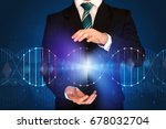 businessman with dna concept in ... | Shutterstock . vector #678032704