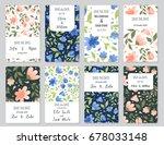 vector set of card templates.... | Shutterstock .eps vector #678033148