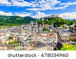 salzburg  austria. old town... | Shutterstock . vector #678034960