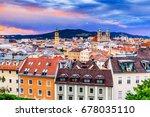 linz  austria. panoramic view... | Shutterstock . vector #678035110