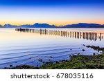 puerto natales in patagonia ... | Shutterstock . vector #678035116
