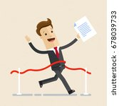 businessman with contract in... | Shutterstock .eps vector #678039733