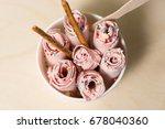 plombir  ice cream  ice roll ...   Shutterstock . vector #678040360