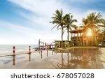 after the rain the seaside  hut ... | Shutterstock . vector #678057028