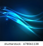 glowing geometric shapes in... | Shutterstock . vector #678061138