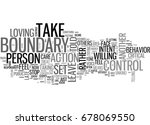what is a boundary text word... | Shutterstock .eps vector #678069550