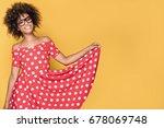 beautiful young african... | Shutterstock . vector #678069748