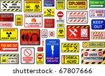 warning signs | Shutterstock .eps vector #67807666