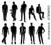 man men male fashion shopping... | Shutterstock .eps vector #67808092