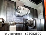 closeup shot of the machine... | Shutterstock . vector #678082570