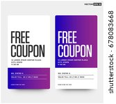 free coupon with number and...