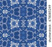 seamless wallpaper tiles  blue... | Shutterstock . vector #678085249