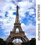 the majestic view of eiffel... | Shutterstock . vector #678095680