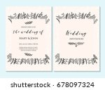 wedding invitation  thank you... | Shutterstock .eps vector #678097324