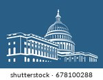 united states capitol building... | Shutterstock .eps vector #678100288