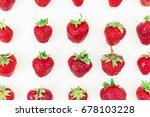 tasty big strawberries on white ... | Shutterstock . vector #678103228