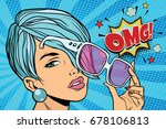 beautiful young woman in...   Shutterstock .eps vector #678106813