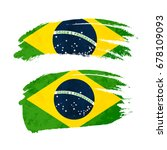 grunge brush stroke with brazil ... | Shutterstock .eps vector #678109093