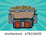 mining trolley with... | Shutterstock .eps vector #678110650