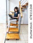 young beautiful woman working... | Shutterstock . vector #678111268