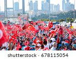 istanbul  turkey   july 15 ... | Shutterstock . vector #678115054