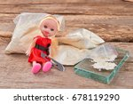 narcotics  doll  blade  wooden... | Shutterstock . vector #678119290