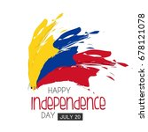 independence day colombia.... | Shutterstock .eps vector #678121078