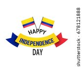 independence day colombia.... | Shutterstock .eps vector #678121888